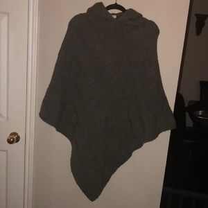 COCOGIO' made in Italy, grey hooded poncho